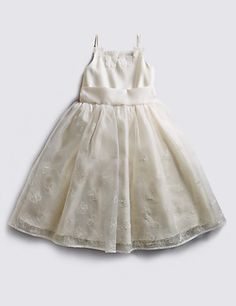 Butterfly Embroidered Dress (1-7 Years) | M&S