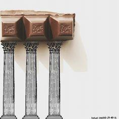 Le piccole voglie... Buona #serata  #rittersport #tempio #grecia #arte #osservarcheologia #artgalaxies