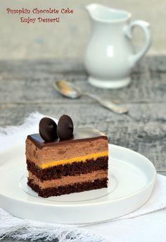 Prajitura cu mousse de ciocolata si dovleac