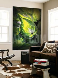 Dorothy Benedict Hosta Wall Mural by Philippe Sainte-Laudy at Art.com