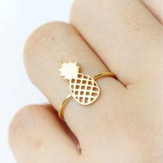 Ananas-Ring / Ring Obst wählen Sie Ihre Farbe Gold von laonato
