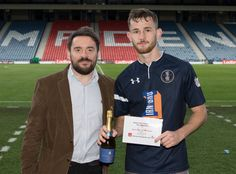 Queen's Park's Jack Iredale Man of the Match after the SPFL League One game between Queen's Park and Raith Rovers.