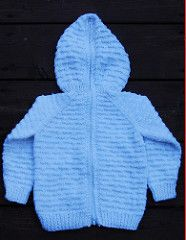 0b97d5a31 Back Zipper Hooded Baby Sweater pattern by Mary Maxim