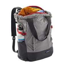 PATAGONIA LIGHTWEIGHT TRAVEL TOTE PACK 22L - A tote bag that you can wear as a backpack and it folds into its own pouch for compact stowage