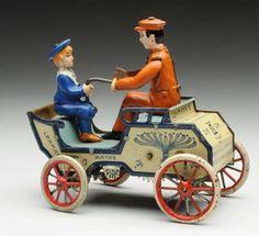 Lot # : 726 - Lehmann Tin Litho Wind-Up Naughty Boy Toy.