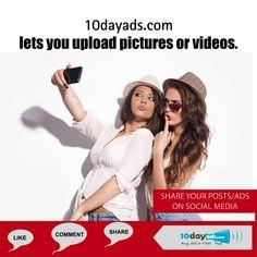 10dayads.com lets you upload pictures or videos. #VideoAds #VideoMarketing