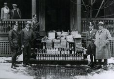 Prohibition Raid - Liquor - Bust - Amendment - Repeal - Bar - Tavern - Whiskey - Beer - Al Capone - Bootlegging - Man Cave - Photo, Art Thomas Jefferson, Man Cave Art, Bar Cart Decor, Gifts For Beer Lovers, Al Capone, Man Cave Gifts, Boardwalk Empire, Andrew Jackson, Continents