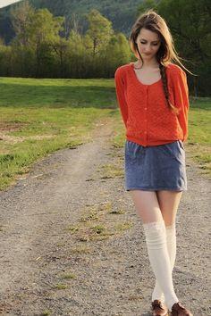 Orange sweater. 2011