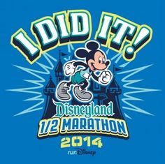 "2014 Disneyland Half Marathon ""I Did It"" Shirt | Disneyland Half Marathon Weekend | Running At Disney #runDisney #DisneylandHalf"