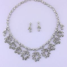 "16-20"" Silver Necklace & 1"" Earring Set"