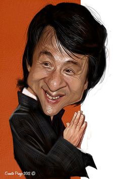 Jackie Chan, illustrated by Ernesto Ringo