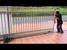 Grill Gate Design, Steel Gate Design, Front Gate Design, Main Gate Design, House Gate Design, Door Design, Sliding Gate Motor, Electric Sliding Gates, Latest Gate Design