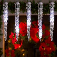 Gemmy Lightshow Icicle Lights Shooting Star White LEDs 8ct ** Continue to the product at the image link. (This is an affiliate link)