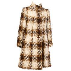 Castillo Lanvin 1960s Wool and Silk Coat
