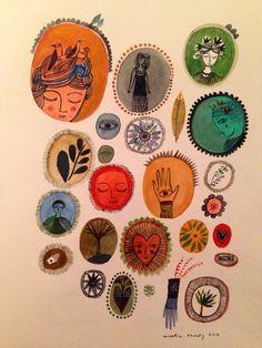 carnetimaginaire: Aurelia Fronty, Milagros Bear Art, Christmas Inspiration, Pretty Pictures, Art Education, Doodle Art, Graphic Illustration, Line Art, Folk Art, Doodles