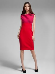 'Peony' embroidered cowl neck dress