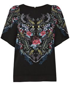 Placement Floral Smock Top $32
