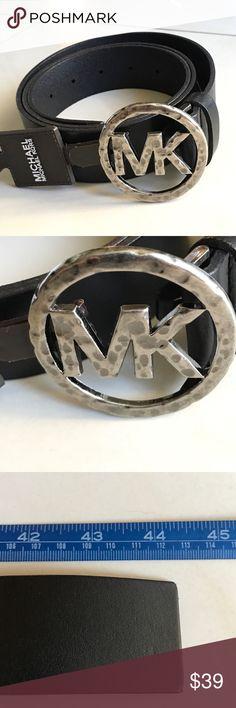 Michael Kors Belt Michael Kors Black Genuine Leather Hammer metal buckle. New. Michael Kors Accessories Belts