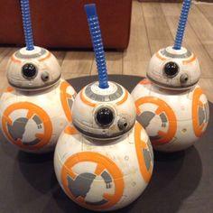 New (2) Disneyland Star Wars The Force Awakens BB-8 Sipper Cups