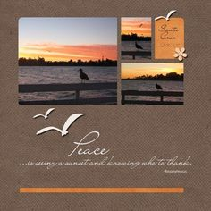 Love the simplicity of this scrapbook layout.