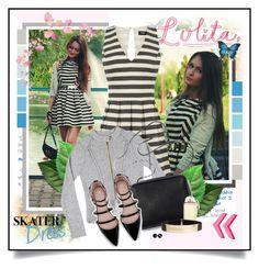 """""""Skater Dress ( Sasha Shcherbakova )"""" by giovanadoll ❤ liked on Polyvore"""
