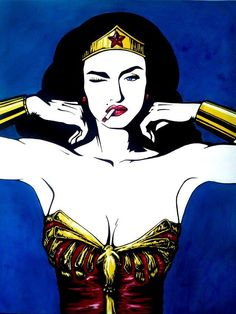 Madonna Wonder Woman art