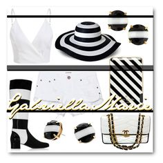 """#Strips #Contest"" by gabriellaaudiamarie on Polyvore featuring Merona, Kate Spade, Yves Saint Laurent, Chanel, One Teaspoon and stripes"