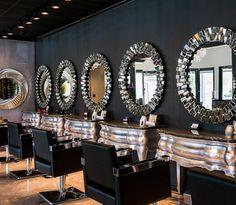 Salons, beauty salon design, salon interior design, salon marketing, be Hair Salon Interior, Salon Interior Design, Home Salon, Glam Hair Salon, Makeup Salon, Beauty Salon Decor, Beauty Salon Design, Beauty Bar, Beauty Salons