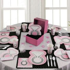 pink and black bridal shower bridal shower table decorations bridal shower tables unique bridal