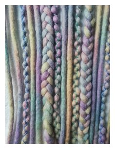 10 wool dreads Pastel Rainbowkurz by KatinkaDreads on Etsy