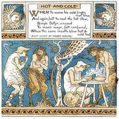 Hot And Cold from The Baby's Own Aesop by Walter Crane