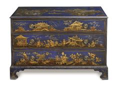Blues... A GEORGE III CHINOISERIE CHEST OF DRAWERS