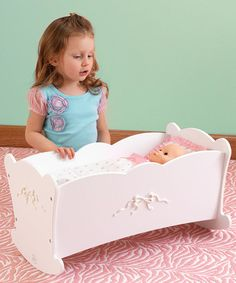 Take a look at this Tiffany Bow Doll Cradle by KidKraft on #zulily today!