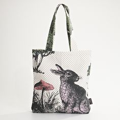 MOZI / large tote bag - woodland rabbit