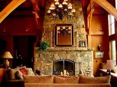 Western Style Log Cabin with MUST See Interior