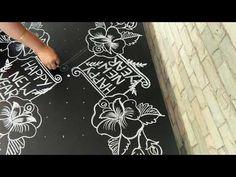 Indian Rangoli Designs, Beautiful Rangoli Designs, Rangoli With Dots, Simple Rangoli, New Year Rangoli, Lotus Rangoli, Special Rangoli, Colorful Roses, Floor Design