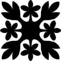 Hawaiian Quilt Tile 5 HawaiianQuilt5