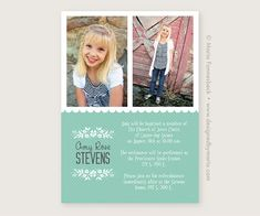 This was specially designed for an LDS baptism announcement. It features a simple design, with room for photos. Select your own text for a custom announcement/invite. Then print at your favorite photo lab. Baptism Announcement, Its A Girl Announcement, Baptism Invitations Girl, Memory Books, 2 Photos, Lds, Simple Designs, Baptism Ideas, Handmade Gifts
