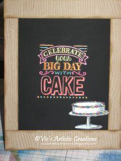 Birthday Card #stampinup #vicsartisticcreations  #bigday #hardwood #birthday #chalkboardpaper