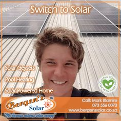 We supply and install solar geysers as well as solar pool heating and solar powered homes systems. Let us get you connected. We are in your area and only one call away. Bergens Solar is Covid Compliant. #poweredbysolar #solarpower #bergens #solar #solarsolution #solarrepairs #solarmaintenance #southafrica #solargeyser #tracingwires #poolheating #solarpoolheating #solarsolution #power #bergenssolar #gogreen #summervibes #quote #weharnessnaturessolarenergy 073 556 0073 Email…