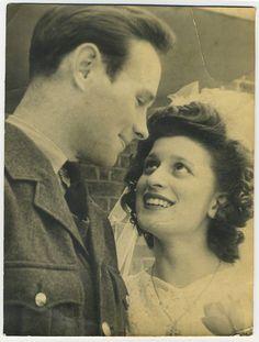 1946 | Real Wedding | Vintage Bride and Groom | Antique Photo #tbt