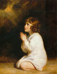 Il piccolo profeta Samuel in preghiera, 1776, olio su tela, Joshua Reynolds. Musée Fabre, Montpellier, Francia