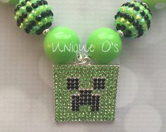 Cute Minecraft bracelet from Unique O's Holiday Boutique, Minecraft, Etsy Seller, Stud Earrings, Bracelet, Creative, Unique, Stud Earring, Wristlets