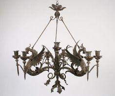Antique French Gothic Wrought Iron Chandelier - Inessa Stewart\'s ...