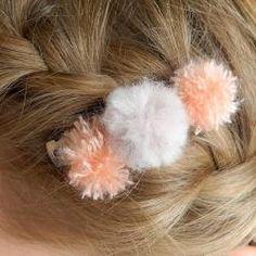 Mini Pompom Hair Clip