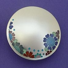 Jane Moore - Silver and Enamel Brooch...pinned by ♥ wootandhammy.com, thoughtful jewelry.