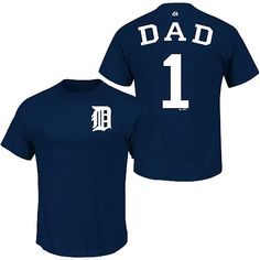 Detroit Tigers Team Dad T-Shirt by Majestic Athletic - MLB.com Shop