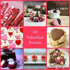 30 Valentine Sweets for your sweet www.thenymelrosefamily.com #desserts #valentinesday
