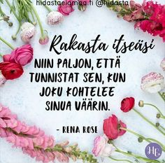 . 365 Quotes, Some Quotes, Words Quotes, Wise Words, Sayings, Finnish Words, Happy Moments, Note To Self, Feel Good