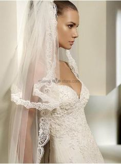 Two layers Cathedral Embroidery Wedding veil 69.13€